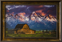 Moulton Barn - Dan Ballard Framed Western Landscape Art Giclee