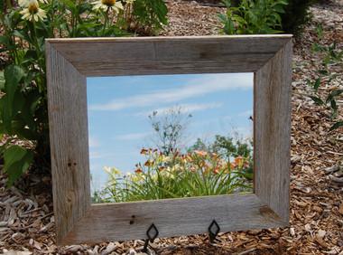 Rustic Beveled Barn Wood Mirror