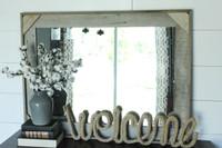 Rustic Mirror - Cornerblock Barnwood Style
