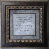 In the Sweetness of Friendship-Framed Quote