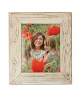 Antique White Reclaimed Wood Frame, 8.5x11
