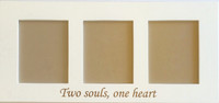 Two souls one heart engraved 8x10 collage picture frame.