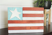 Wooden Star Flag