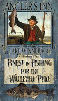 Vintage Fishing Sign - Walleye