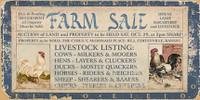 Vintage Farm Auction Sign