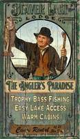 Vintage Fishing Sign - Beaver Lake