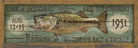 Vintage Fishing Sign - Bass