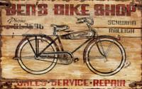 Vintage Bike Shop Sign - Ben's Bike Shop