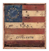 Vintage Centennial Flag Sign