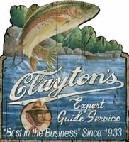 Clayton's Vintage Fishing Sign