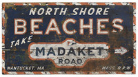 Vintage North Shore Beach Sign