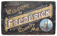 Vintage County Welcome Sign