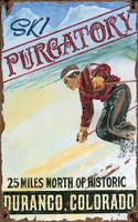 Vintage Ski Purgatory Sign - Durango Colorado
