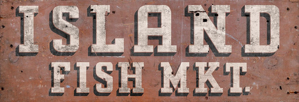 Vintage Fish Market Sign Rustic Market Decor