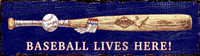 Vintage Baseball Lives Sign