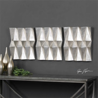 Uttermost Maxton Multi-Faceted Panels S/3
