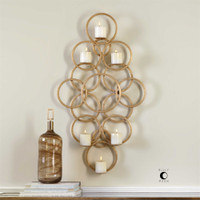 Uttermost Coree Gold Rings Wall Sconce