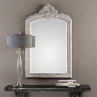 Uttermost Charente Aged Ivory Arch Mirror
