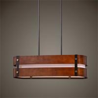 Uttermost Milford 4 Light Oval Wood Chandelier