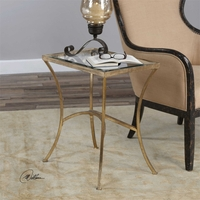 Uttermost Alayna Gold End Table