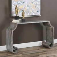 Uttermost Agathon Stone Gray Console Table