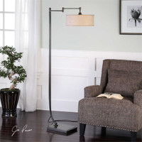 Uttermost Lamine Dark Bronze Floor Lamp