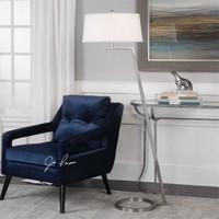 Uttermost Ordino Modern Nickel Floor Lamp
