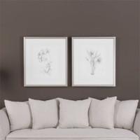 Uttermost Botanical Sketches Framed Prints S/2