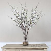 Uttermost Quince Blossoms Silk Centerpiece