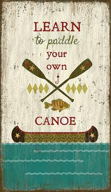 Vintage Canoeing Sign Canoe Decor