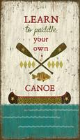 Vintage Paddle Canoe Sign