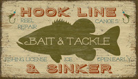 Vintage Bait and Tackle Signs