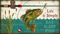 Vintage Eat, Sleep, Fish Signs
