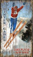 Nostalgic Lake Placid Ski Jump Sign