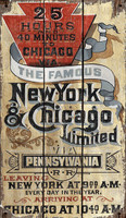 Vintage NY-Chicago Railroad Sign
