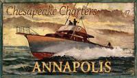 Vintage Chesapeake Charter-Annapolis Sign