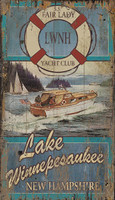 Vintage Fair Lady Boating Sign