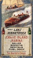 Vintage Lake Minnetonka Boating Sign