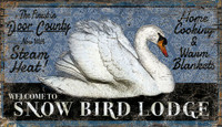 Vintage Snow Bird Lodge Sign