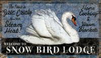 Vintage Snow Bird Lodge Sign