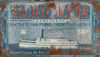 Vintage Pacific Transport Sign