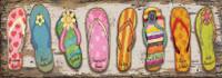 Vintage Florida Flip Flop Lineup Sign