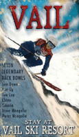 Vintage Vail Skiing Sign