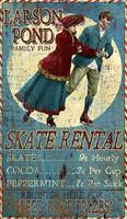 Vintage Larson Pond Skating Sign