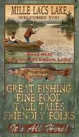 Vintage Mille Lacs Lake Sign