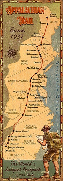 Appalachian Trail Appalachian Trail Advertisement Sign