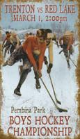 Vintage Hockey Championship Sign