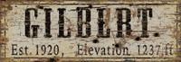 Vintage Gilbert City Sign