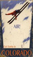 Vintage Air Skiing Sign