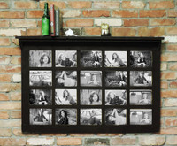 Farmhouse Family Collage Frame - 20 Opening 5X7 - With Shelf